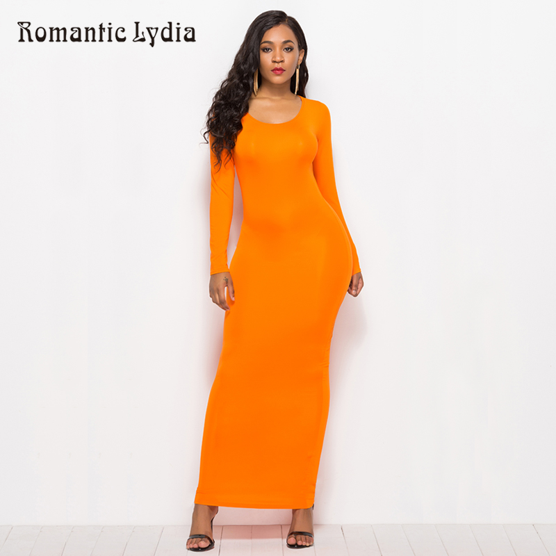 bd2ce79ff2c Casual Bodycon Elastic Women Summer Dresses 2018 Elegant Slim Straight Long  Sleeve Maxi Dress Plus Size