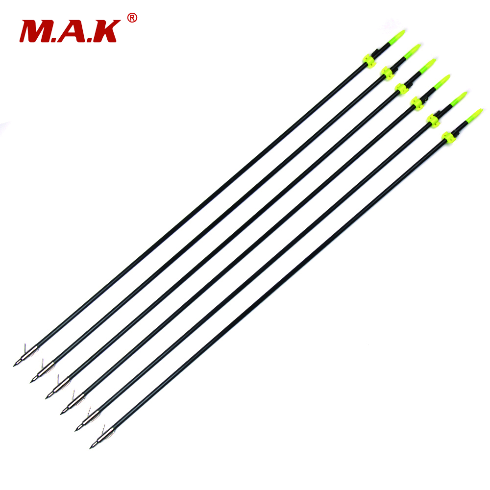 3/6/12pcs OD 8mm 32 Inches Length Glass Fiber Black Shaft Fishing Arrow for Hunting Shooting Archery 60 hanks stallion violin horse hair 7 grams each hank 32 inches in length