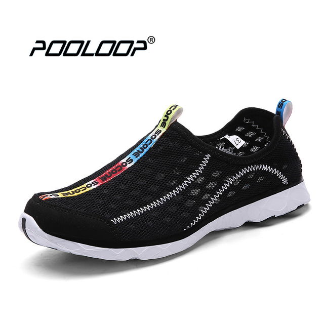 New Summer Men Water Shoes Lightweight Mesh Shoes Breathable Men Casual Shoes Slip On Beach Shoes For Men zapatillas deporte