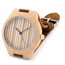 BOBO BIRD New Fashion Wooden Bamboo Watches Mens Top brand Design Luxulry Dress Watches Japan 2035