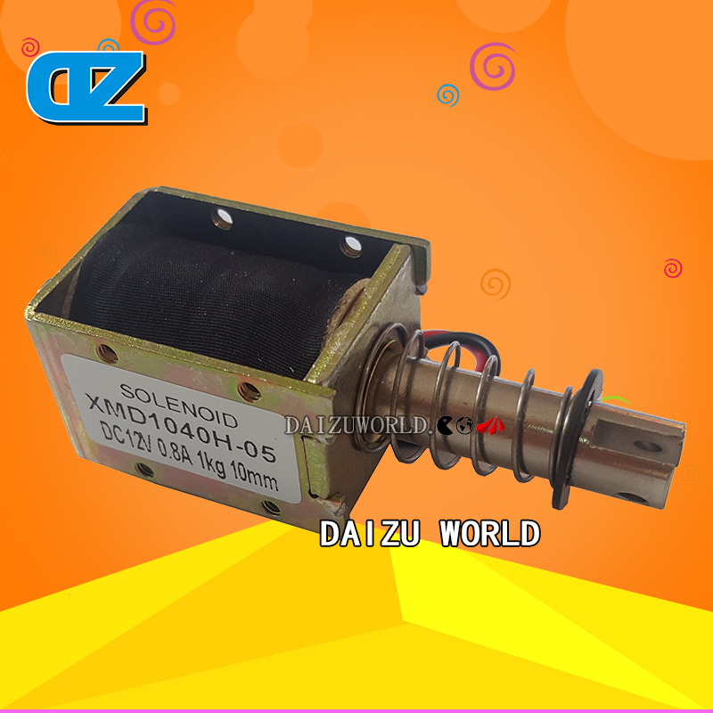 Solenoid Spare Parts for Magic Ticket Redemption Game Machine /Solenoid XMD 1040H 05 DC12V 0.8A 1KG 10MM , Arcade Games