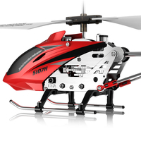 S107H 3.5CH RC Helicopter RTF Remote control RC toy Gift with Gyro Single Propeller original Box package red yellow plane