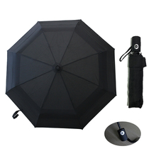 Fully-Automatic Double Layber Umbrella Rain Women Folding Portable Umbrellas Men Windproof Black and Blue 8K Parasol