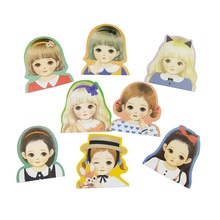 Greeting-Postcard Gift Half-Length-Girl with Random-Delivery for Daily-Using 1pcs/Lot