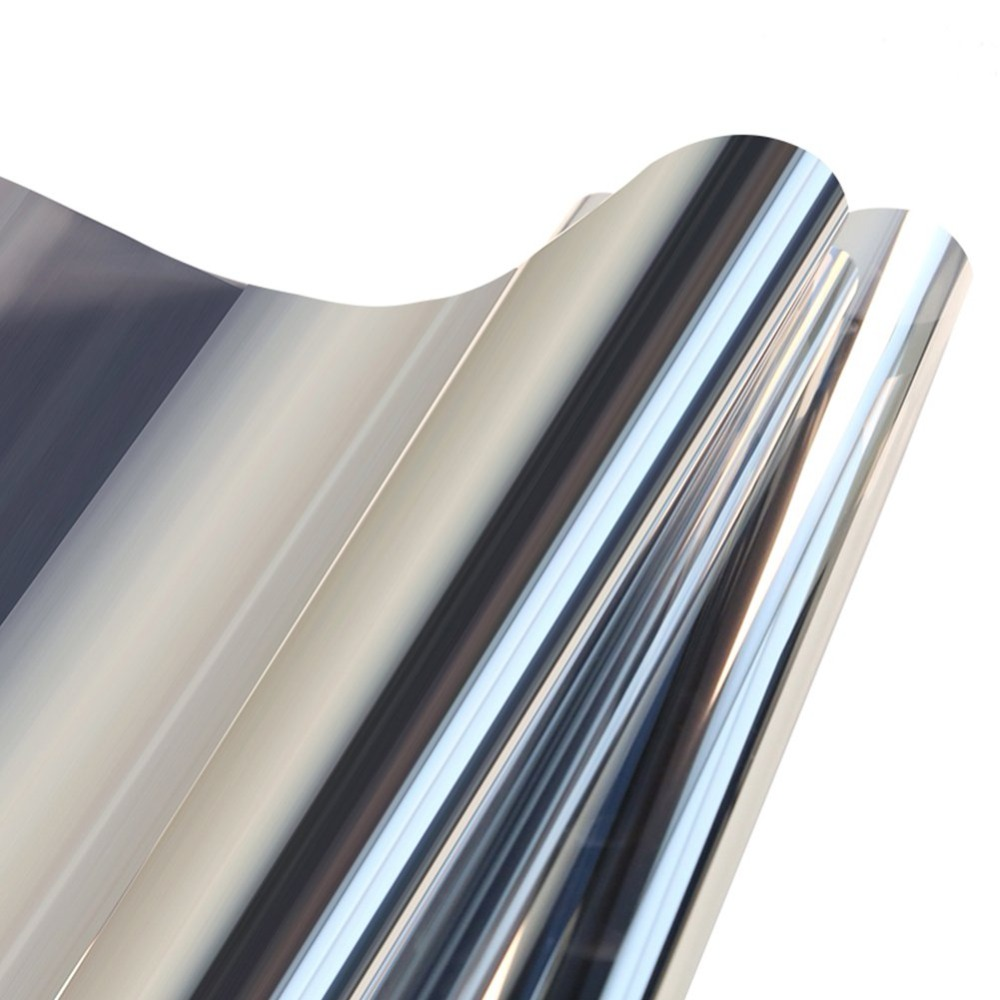 One Way Mirror Film Privacy Self Adhesive Residential DIY Window Film Heat Control Glare Control Anti UV Window Tint for Office in Decorative Films from Home Garden