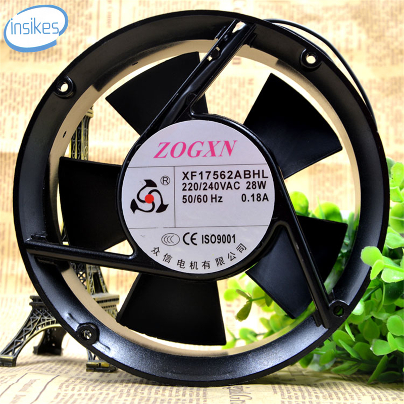 XF17562ABHL Full Circle Axial Blower Cooling Fan AC 220V-240V 0.18A 28W 17050 17cm 170*170*50mm 2 Wires 50/60HZ original delta pfb1248ghe 12038 48v 0 82a 12cm humidifier full waterproof axial case cooling fan 120mm