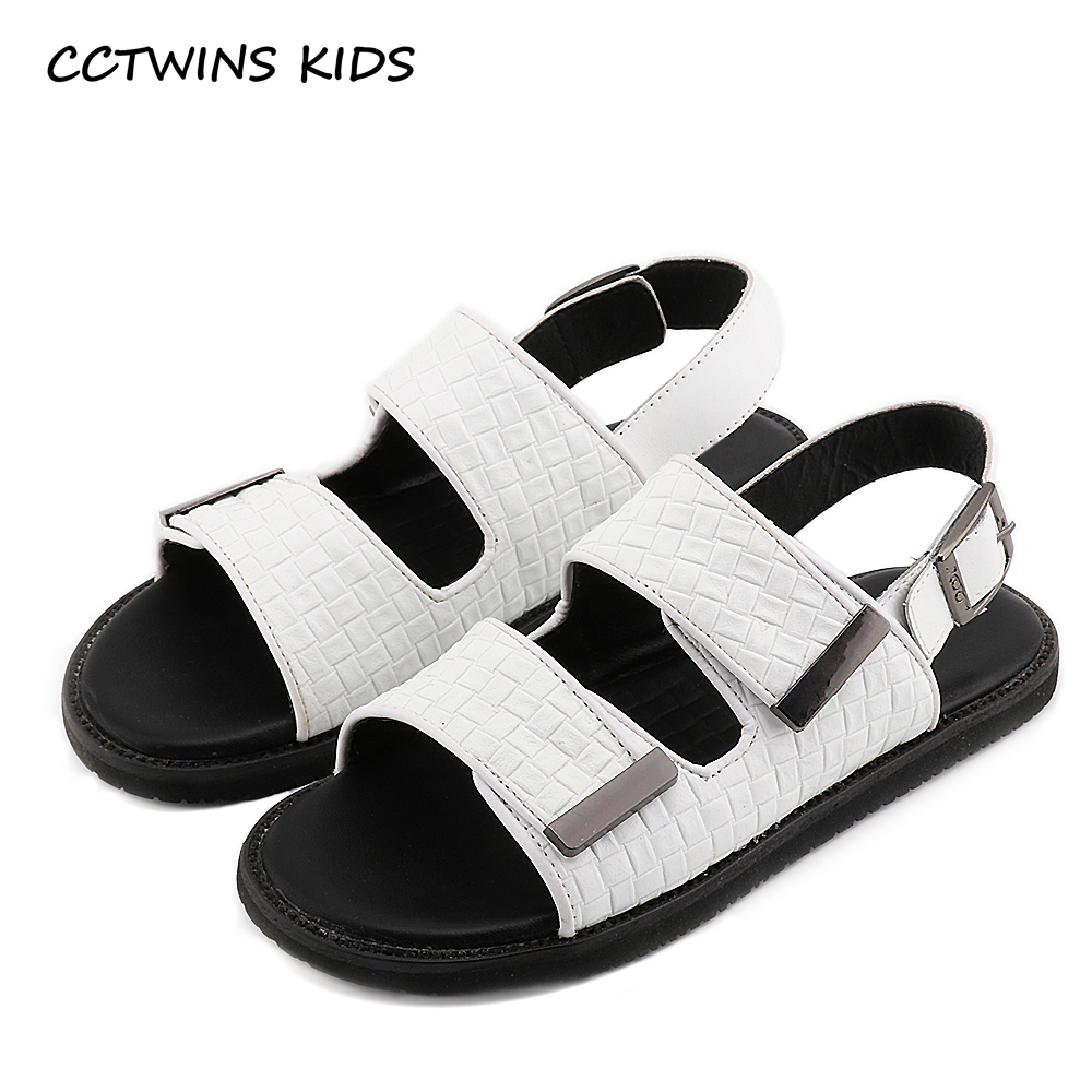 Black sandals baby girl - Cctwins Kids 2017 Summer Children Fashion Strap Beach Sandal Baby Brand Genuine Leather Flat Toddler Girl