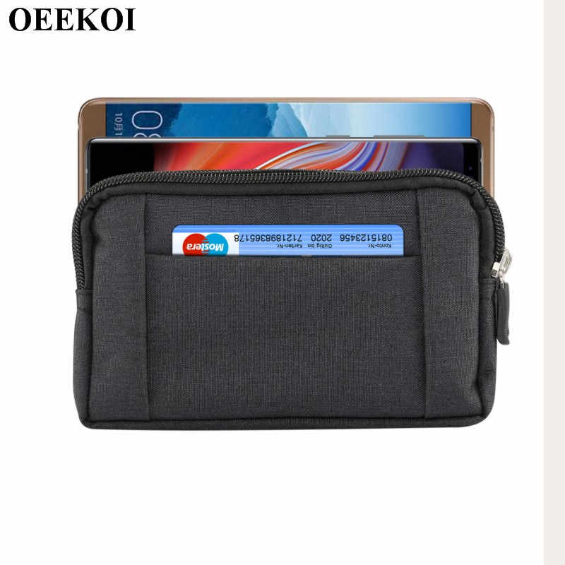 Oeekoi Universal Denim Klip Sabuk Olahraga Pouch Case untuk Kehormatan Bee 2/7 S/7 Bermain/Holly 4/6A Pro/6 Bermain/9/6A/6C/Y6 II Compact/8 Lite