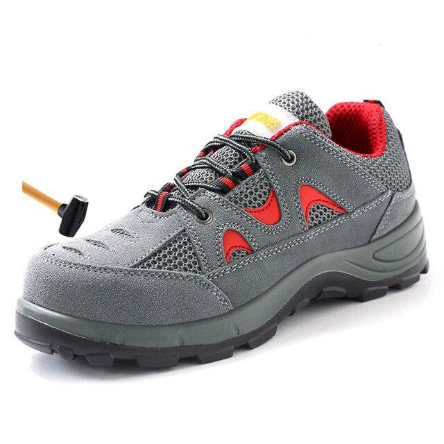 Seguridad Acero Para Zapatos Grande Cuero Trabajo Militares Talla 46 Hombre De Transpirables Casuales Punta Exteriores 36 Botas dCoerxB