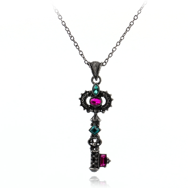 Vintage Punk Gothic Key Pendant Necklace Goth Jewelry