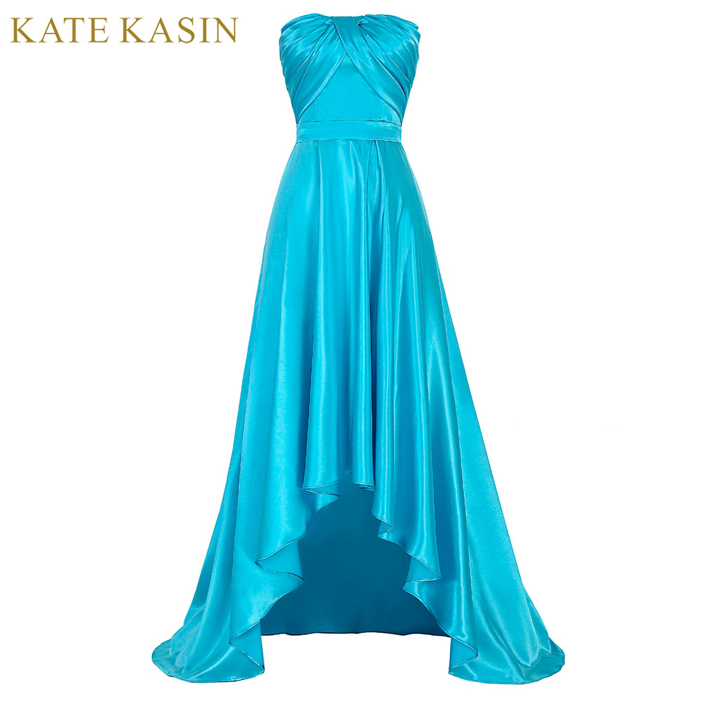 Blue Short Front Long Back Prom Dresses 2017 High Low Prom Dress ...