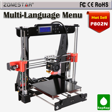 Reprap Prusa i3 3d printer DIY Kit Upgraded P802N P802NA Selectable Filament Gift 8GB SD Card 3d printer LCD Free Ship