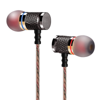 Free Shipping KZ ED2 Enthusiast Bass Ear Headphones Copper Forging 7MM Shocking Anti Noise Microphone Sound