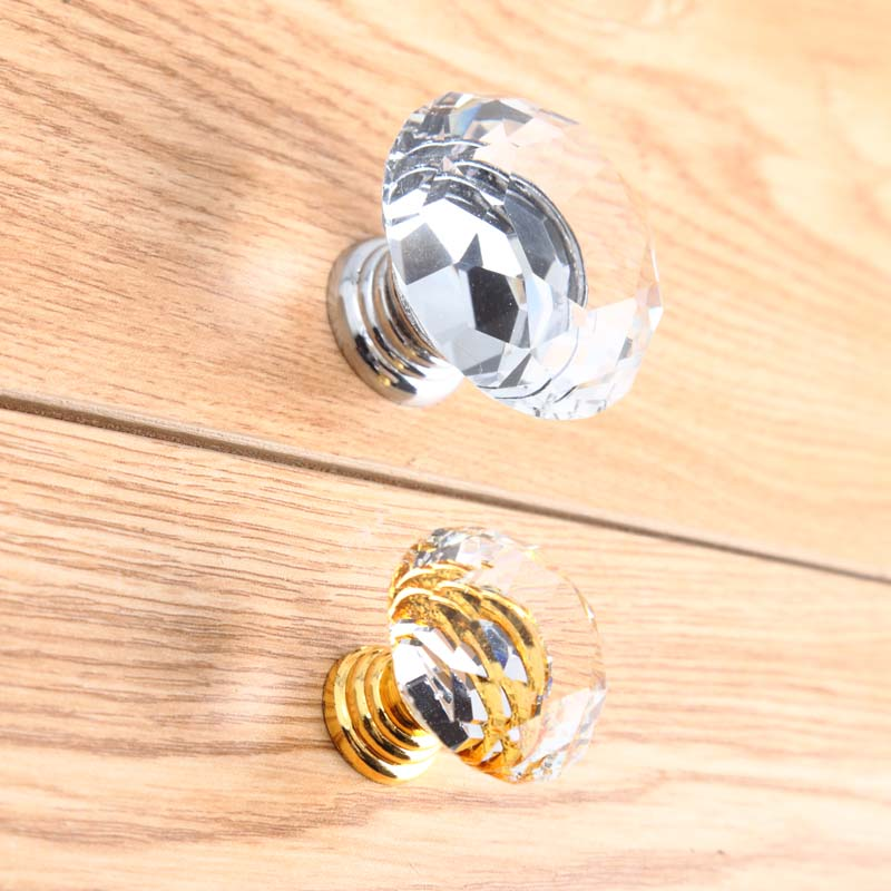 Modern fashion deluxe rhinestones drawer win cabinet knobs pull gold silver k9 crystal dresser kitchen cabinet furniture handles ivo нож ivo 2091