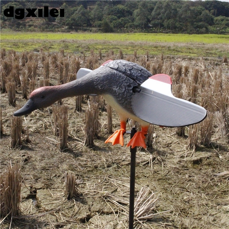 Outdoor Hunting 6V/12V Gadwall Motor Duck Decoys Traps With Magnet Spinning Wings dc 6v plastic motorized hunting decoys hunting duck with spinning wings