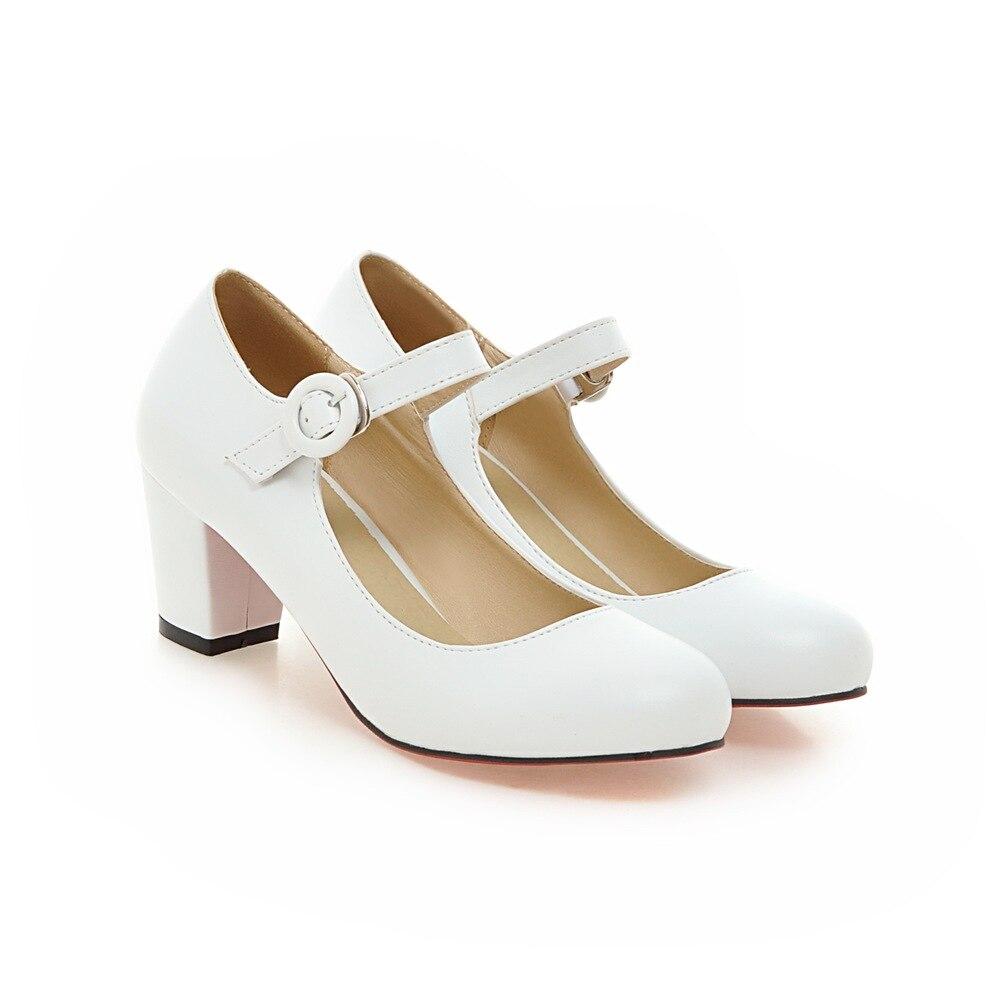 43 Plus Hauts Noir blanc Romance Sexy noir Sqaure 34 Sh565 Chaussures Pompes Rose Élégant Blanc Beige rose S Talons Mode Femme Taille Femmes Beige Bout Rond 85I6qq
