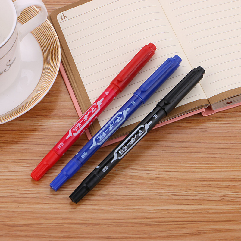 3 PCS Cute Kawaii Colored Markers Creative Double Head Marker Pen For Drawing Kids Gift Korean Stationery Office School Supplies