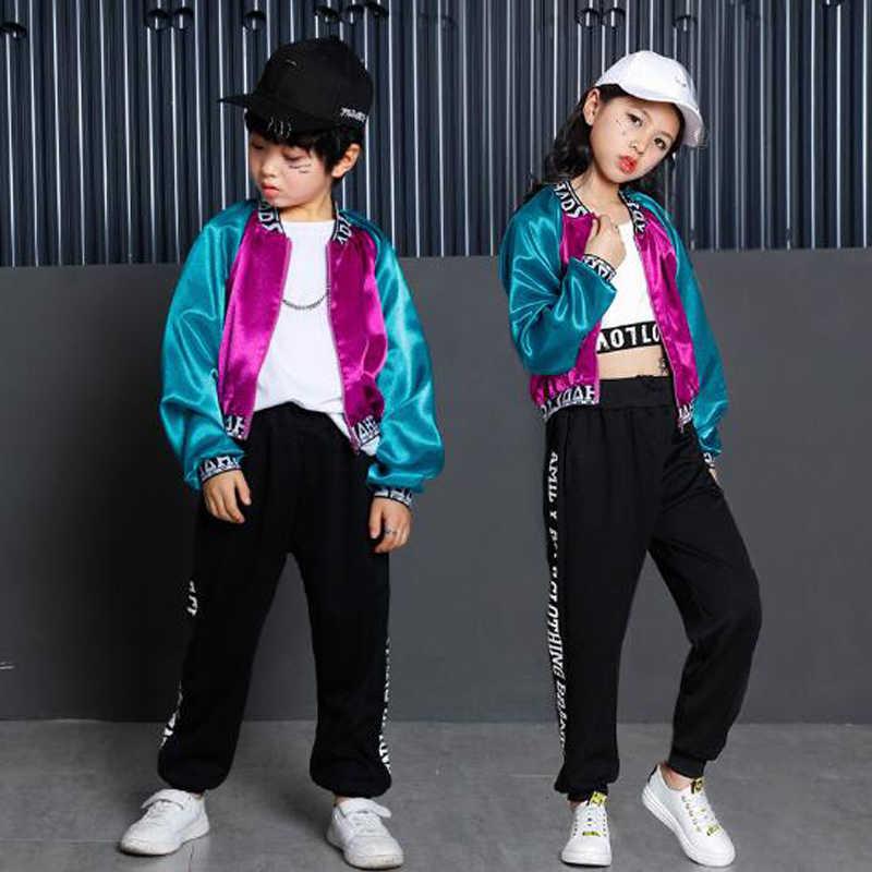 Detalle Comentarios Preguntas sobre Niños Niñas hip hop danza ropa niños  Street dance traje jazz danza moderna para niños bailando abrigos tops y  pantalones ... b3f9640faca