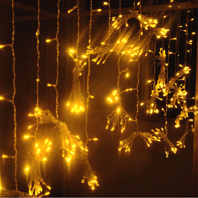 10 * 3M 1000 Bulbs LED Curtain Fairy Lights Decoration For Wedding Holiday Party Xmas Christmas Garland String Lights Outdoor ...