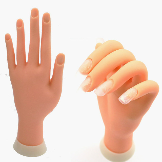 Practice Adjustable And Hold Position Nail Practice Hand Soft ...