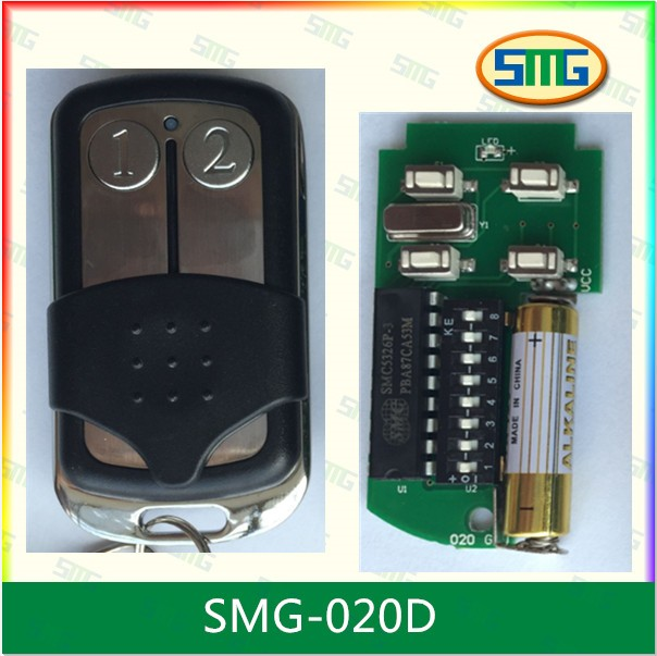free shipping 330mhz fix code smc5326p-3 dip switch remote controller X1 330mhz 8 dip switch 5326 auto gate duplicate remote control