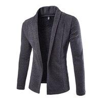 2016 Britannique Élégant Hommes Tricoté Chandail De Mode Solide Cardigan Chandails Sans Bouton Hommes Blazer Cavaliers Veste 13M0213