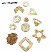 Купить с кэшбэком assoonas M130,6cm,jewelry accessories,accessories parts,bamboo pendant,diy earrings,hand made,charms,jewelry making,10pcs/lot