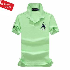 Image 4 - Good Quality 2020 Summer Brand Mens Short Sleeve Horse Polos Shirts Casual 100% Cotton Lapel Polos Homme Fashion Male Slim Tops