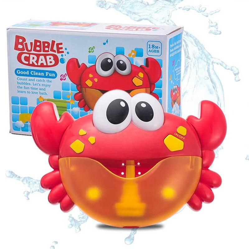 Bulle crabes musique bébé bain jouets enfants piscine baignoire savon Machine automatique bulle drôle crabes grenouille bain musique bulle