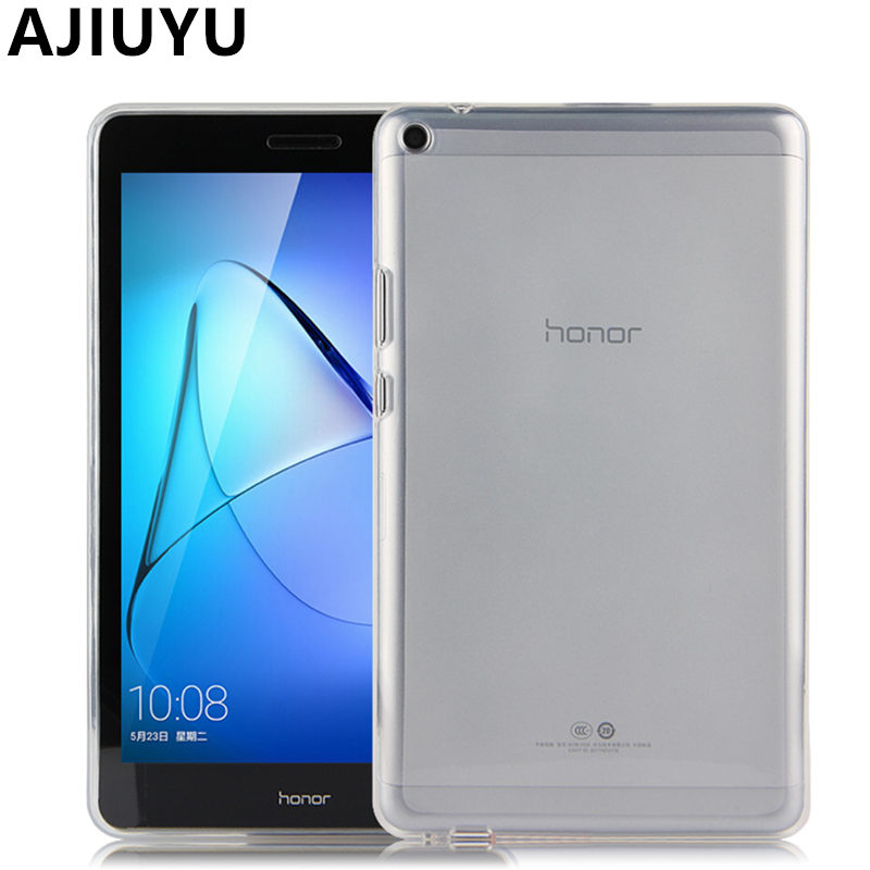 big sale 036a8 a8b5a US $6.41 5% OFF|TPU For Huawei MediaPad T3 8 Case Cover T3 8.0 inch  Silicone Case Protective Protector KOB L09 KOB W09 honor Tablet T38 Soft-in  ...