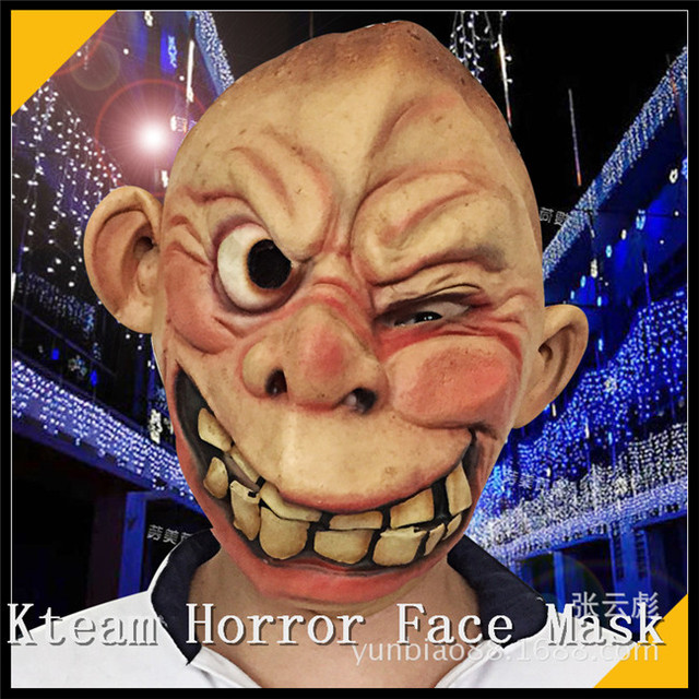 083375a07b8 US $20.45 7% OFF|Funny Horror Scary Clown Masks Hot 2016 high quality  Halloween mask Cosplay role playing clown mask latex party props Human  Mask-in ...