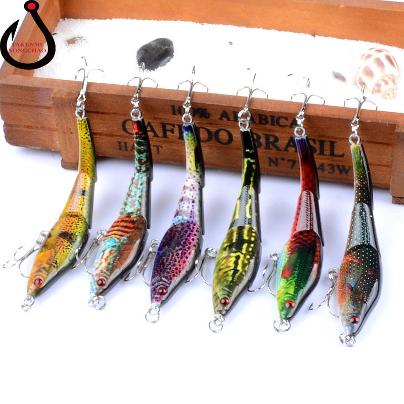 1PCS Lure Multi Section Classic VIB Plastic Hard Bait 9.5cm / 8.9g Coloured Drawing Pattern Bionic Bait Fishing Wobblers LD-04