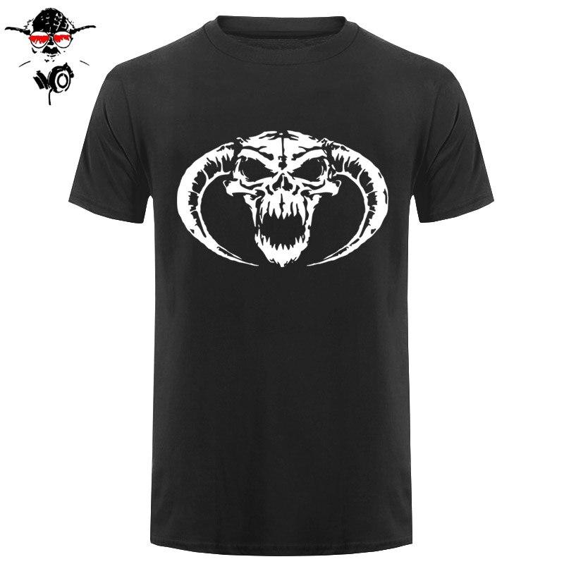Los más nuevos hombres de moda divertida Masters Classic hardcore Skull novedad Cool Tops hombres Camiseta de manga corta