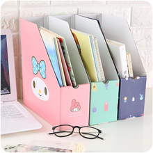 Paper desk top file storage box small desk shelf creative stationery office tidying box