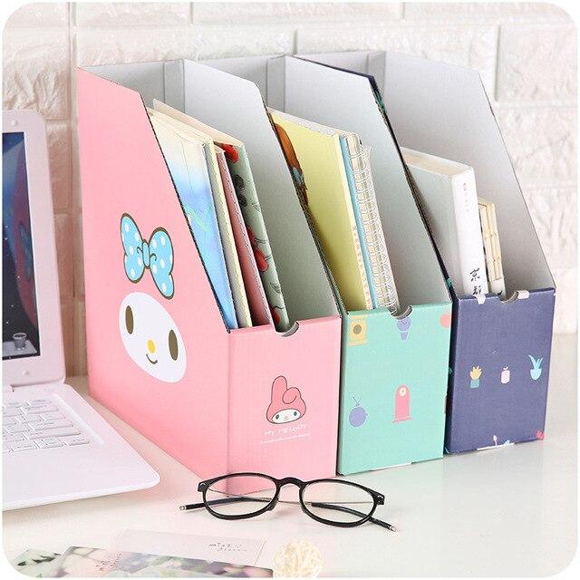 Caixa de armazenamento de arquivos de papel desk top pequena estante mesa de escritório papelaria criativa caixa de arrumação