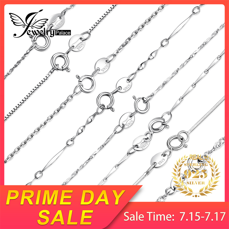 JewelryPalace 100% 925 Sterling Silver Necklaces Chains