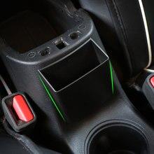 ABS центральной консоли подлокотник коробка для хранения держатель Поддон Крышка Накладка Jeep компасы 2017 2018 интерьер автомобиля средства