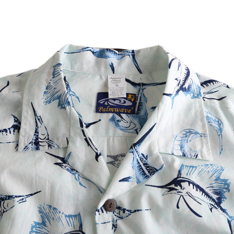 7ef2caa5540e 2016 Summer Cotton Hawaii Holiday Beach Shirt Men Casual Short Sleeve Fish  Printed Shirt Plus Size Loose Tops US Size W442-in Casual Shirts from Men s  ...