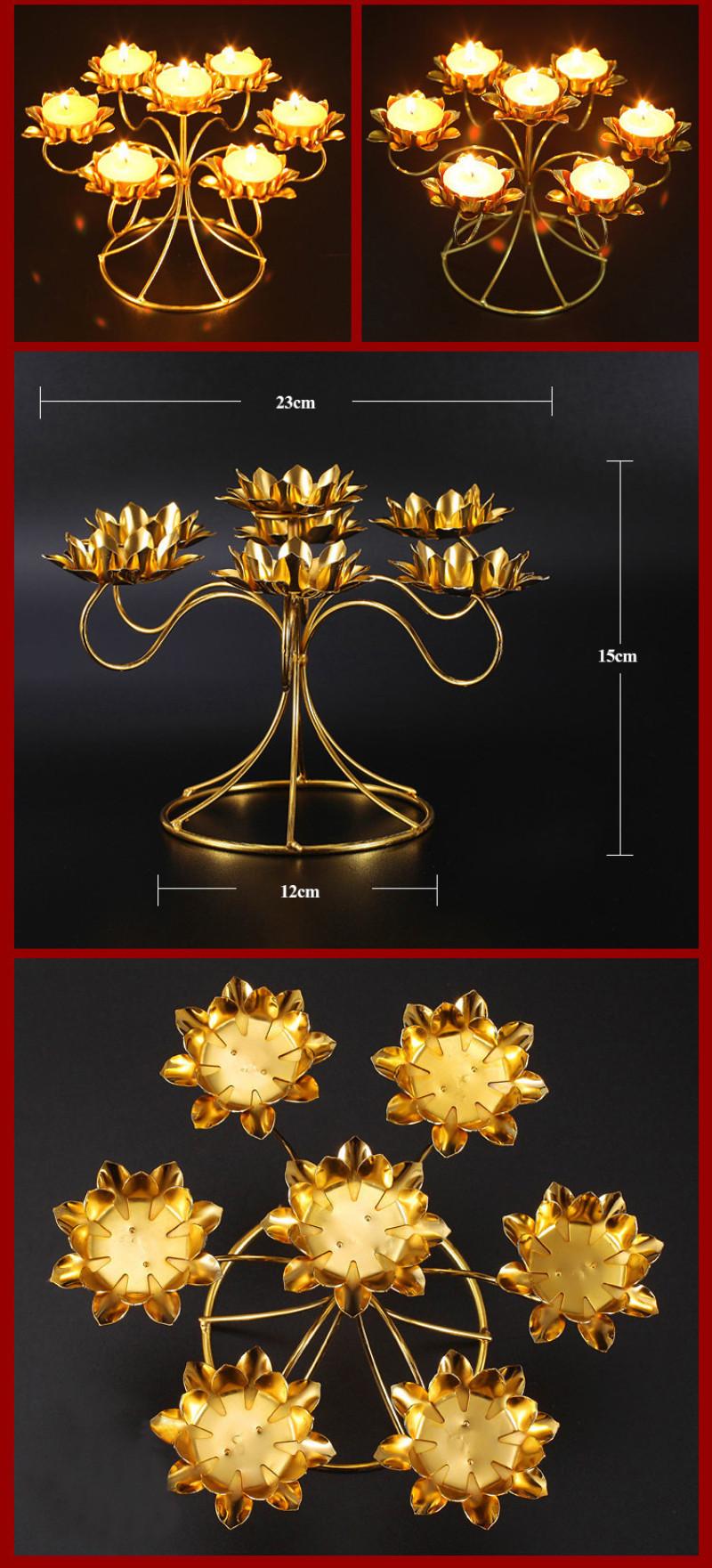 lotus shape buddha butter lamp candle holder 79