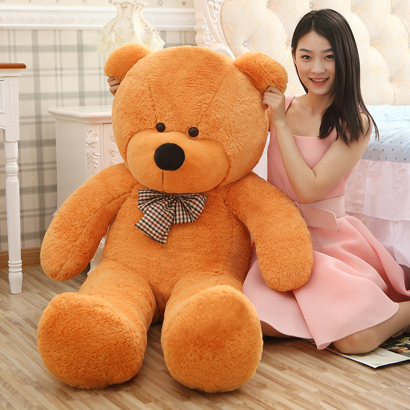 Giant teddy bear 160cm large big stuffed toys animals plush life size kid children baby dolls lover toy valentine gift lovely
