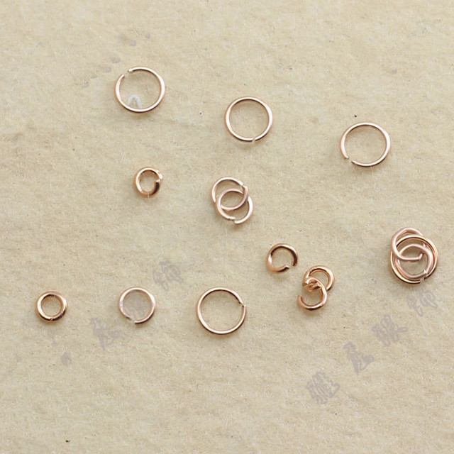 silver 925 jewelry findings rose gold jump rings diy open split ring