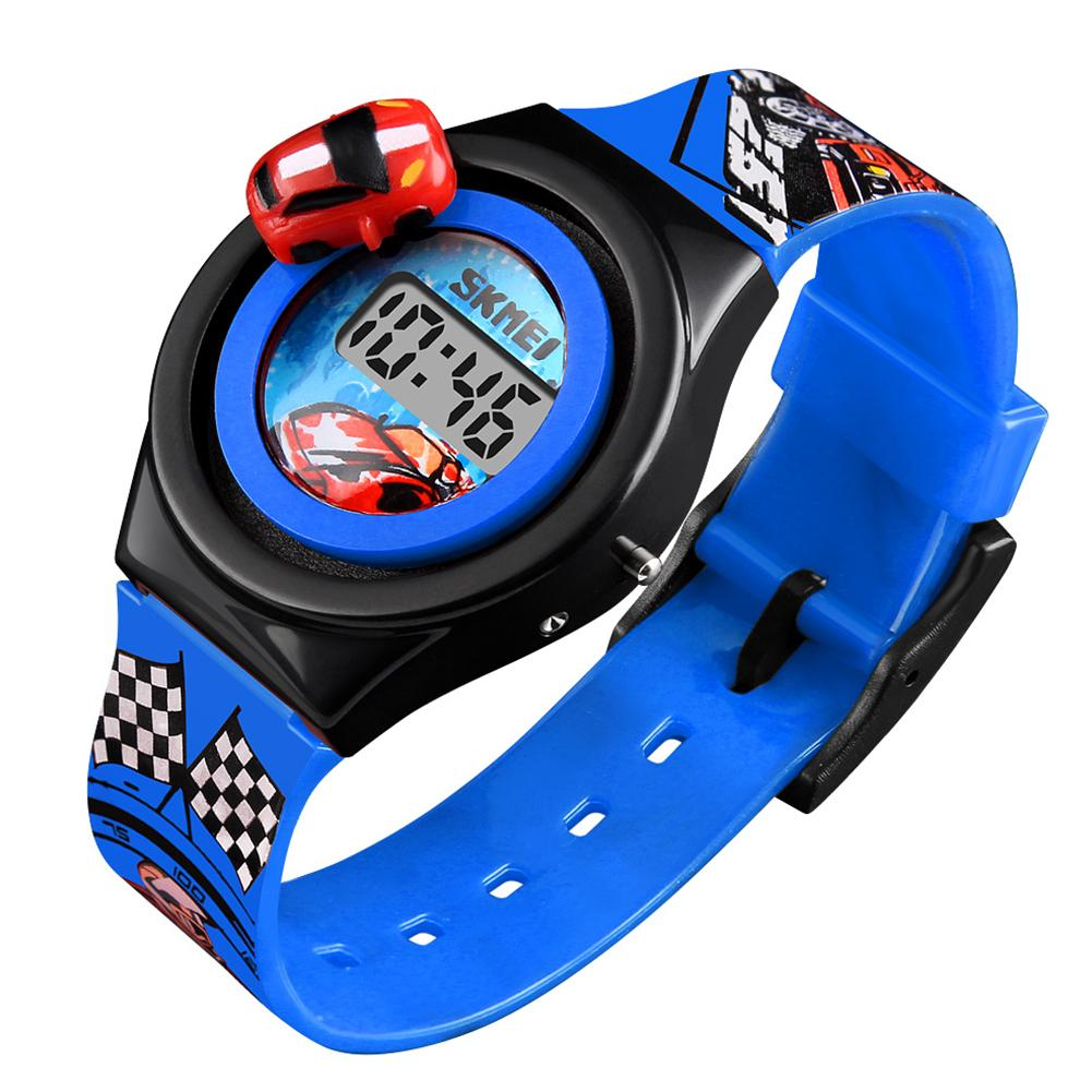 Fashion Children's Electronic Watch Cool Sports Car Waterproof Student Watch For Boys Girl Birthday Kids Gift