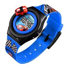 Fashion Children's Electronic Watch Cool Sports Car Waterproof Student