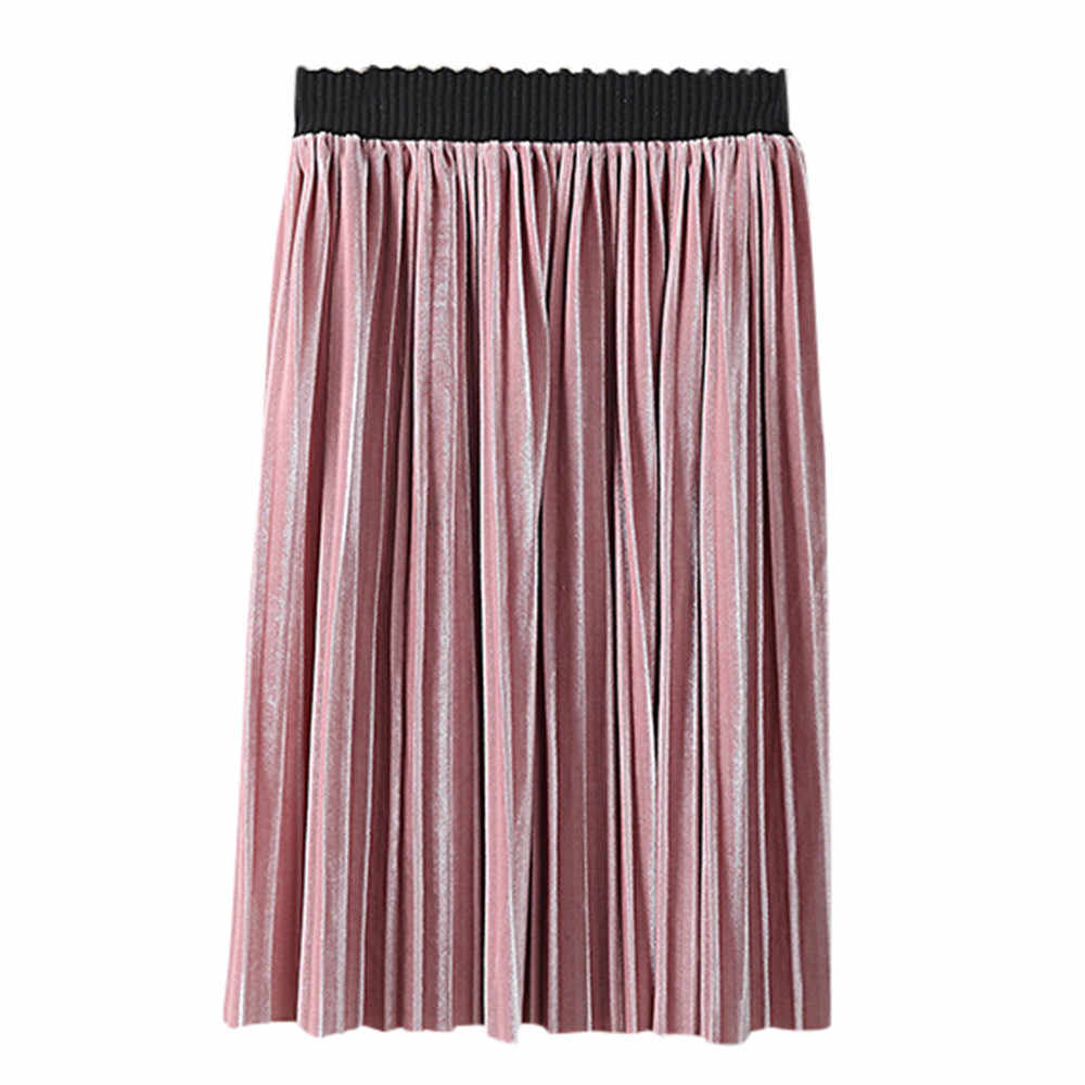 Todder Kids Baby Girls Skirts Knitted Pleated Skirt Children Party Skirt Solid Fashion Pleuche girls skirts 2019 baby skirt girl