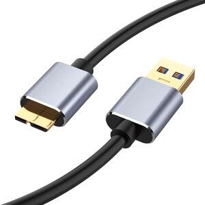 Image 2 - USB 3.0 kablosu USB uzatma Cabo USB 3.0 erkek mikro B erkek kablo hızlı şarj veri kablosu harici sabit samsung not 3 için S5