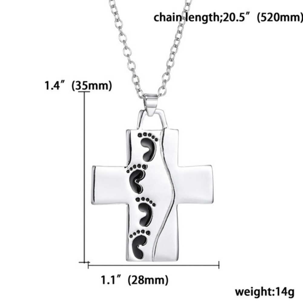 God Said на задней стороне следов крест кулон женщины мужчины ожерелье христианские пары бижутерия; ожерелье Модные ювелирные изделия