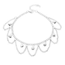 Trendy Silver Plated Bell Pendant Anklets Foot Chain Leg Anklets Bracelet For Women Trend font b