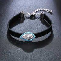 16+4.5 cm length black strap bracelet beautiful hands accessories jewelry jewellery women Wrist bracelets