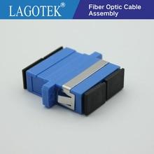 100PCS SC UPC Duplex Single mode Fiber optic Adapter SC Optical fiber coupler SC UPC Fiber flange SC connector Free shipping