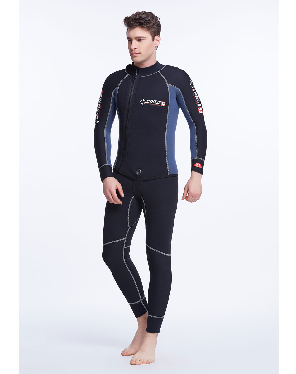 5mm Neoprene 2-Piece Set Men's Wetsuit Full Suit Top Hood and John's Suit Premium SCR 5mm Full Body Spearfishing Suit thermoelectric peltier 60w cooler refrigeration semiconductor cooling system kit cooler fan finished set for computer cpu hot